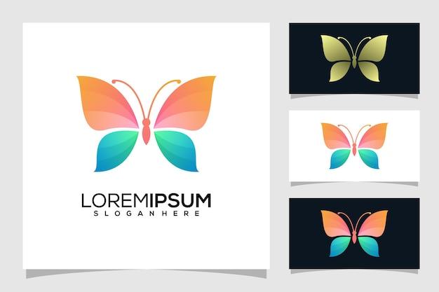 Абстрактный логотип бабочки