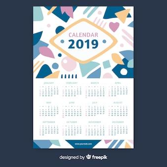 Abstract calendar 2019