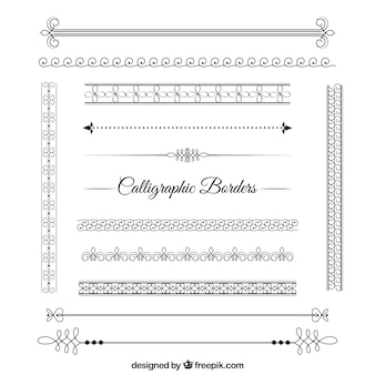Abstract Calligraphic Borders Pack