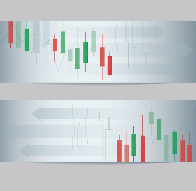 Abstract candlestick stock exchange banner