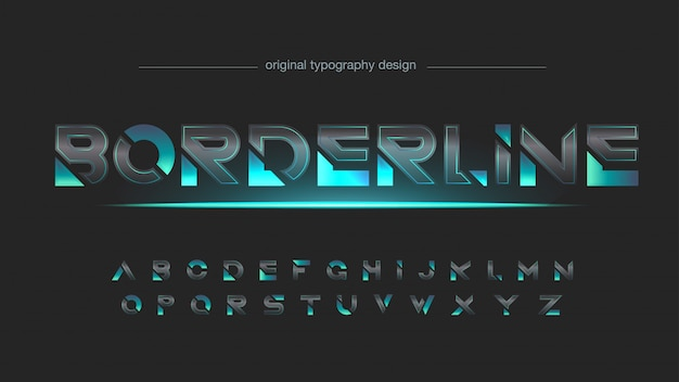 Abstract carbon fiber futuristic typography