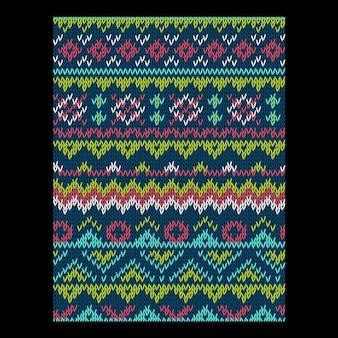 Трикотажное яркий бесшовный зимний праздник вектор шаблон