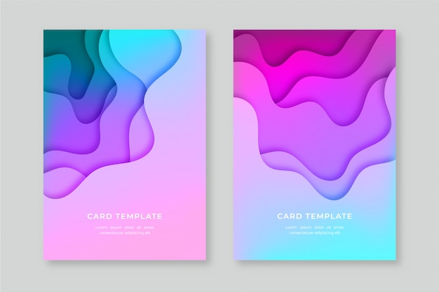 Abstract cards collection