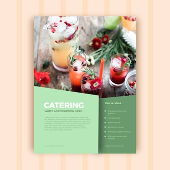 Abstract catering business brochure template