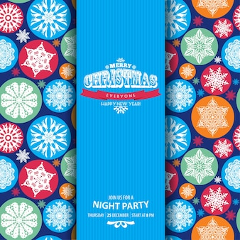 Abstract celebration background with colors snowflakes