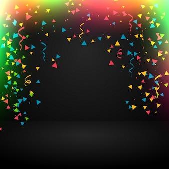 Celebrazione sfondo astratto con confetti