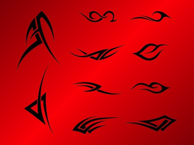 Abstract celtic shapes stickers