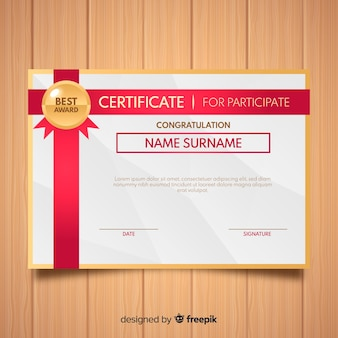 Abstract certificate template design