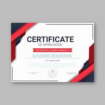 Abstract certificate template theme