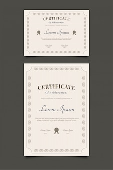 Abstract certificate template with vintage style