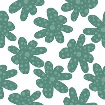 抽象的なカモミールの花のシームレスなパターン。デイジーの花と花柄。デイジーフィールド。布、テキスタイルプリント、包装紙の春のデザイン