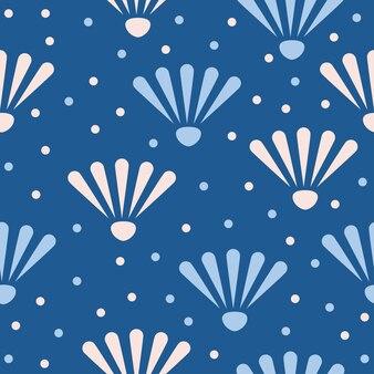 추상 카모마일 원활한 패턴 배경입니다. 디자인 카드, 벽지, 앨범, 스크랩북, 휴일 포장지, 섬유 직물, 가방 프린트, 티셔츠 등을 위한 유치한 수제 벽지 커버
