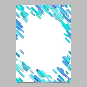 Abstract chaotic rounded diagonal stripe pattern brochure template - blank vector flyer background design from light blue stripes