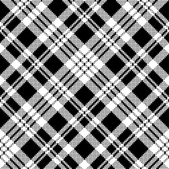 Abstract check pixel seamless pattern black and white