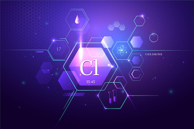 Abstract chlorine background