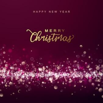 抽象的なクリスマスと新年の輝く背景