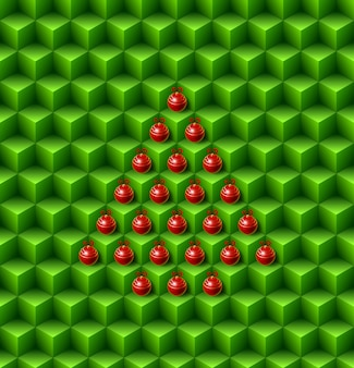 추상 크리스마스 큐브 원활한 패턴