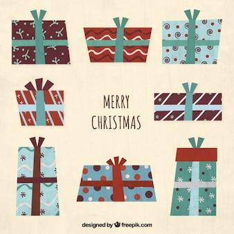 抽象的なクリスマスプレゼントコレクション