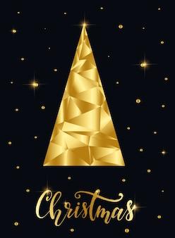 Abstract christmas golden card design