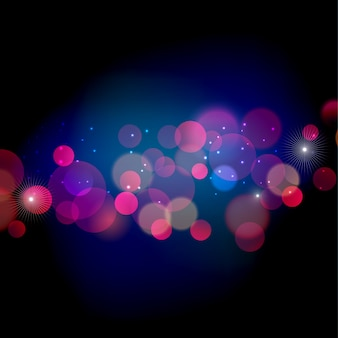 Abstract christmas  light background with bokeh