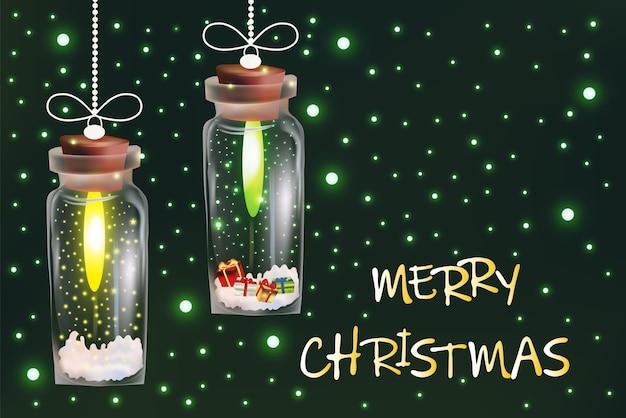 Абстрактная рождественская волшебная светлая гирлянда.