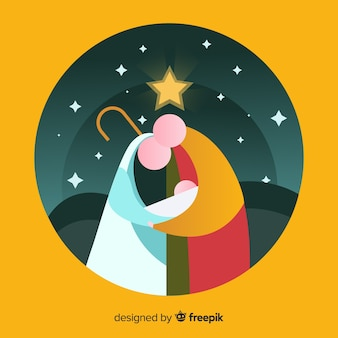 Abstract christmas nativity scene