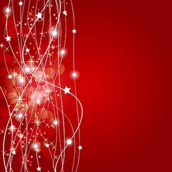 Абстрактные рождественские красный фон векторные иллюстрации. эп.10.