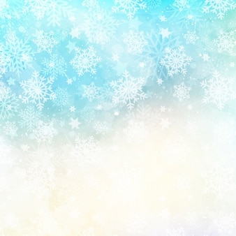 Abstract christmas snowflakes background with a watercolor texture