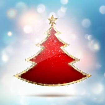 Abstract christmas tree background. and also includes