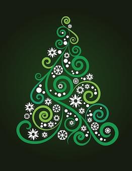 포스터, 배너 또는 인사말 카드에 대 한 추상 크리스마스 트리 배경