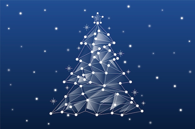 Abstract christmas tree concept