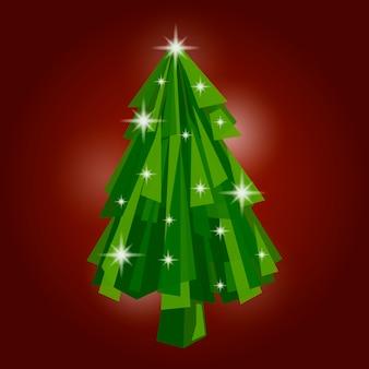 Abstract christmas tree concept