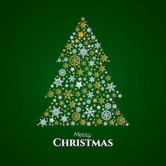추상 크리스마스 트리 개념