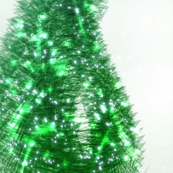 Abstract christmas tree, creative vector background eps10.