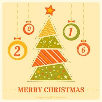 추상 크리스마스 트리 인사말 카드