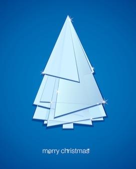 抽象的なクリスマスツリー。イラスト冬の背景。
