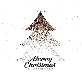 Abstract christmas tree made with particles