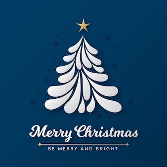 Абстрактная рождественская елка с золотой звездой