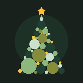 抽象的なクリスマスツリー