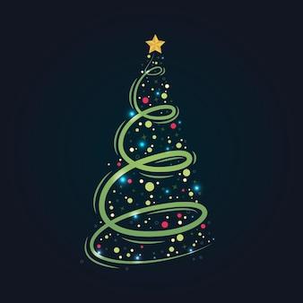 추상 크리스마스 트리
