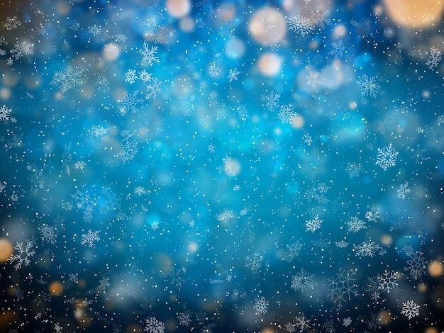 偽物のクリスマス冬の背景。