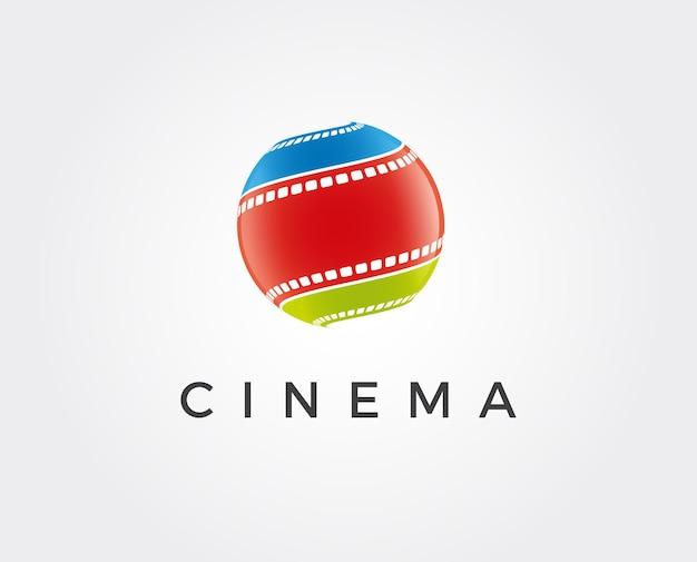 Абстрактный векторный шаблон логотипа кино, изолированные на белом фоне