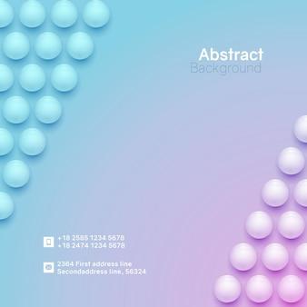 抽象的な円の背景。正方形のmnimalisticバナーテンプレート。