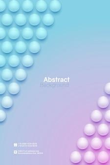抽象的な円の背景。垂直ミニマルバナーテンプレート。