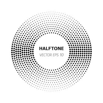 흰색 바탕에 추상 원형 검정 하프톤입니다. 벡터 일러스트 레이 션 eps 10입니다.