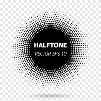 Abstract circle black halftone