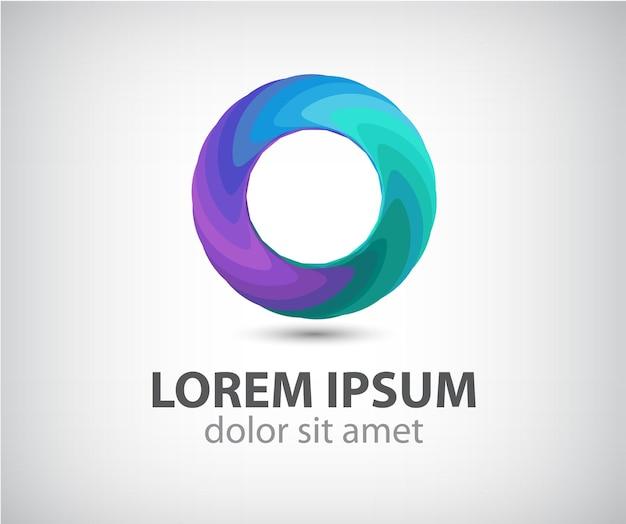 Абстрактный круг цвет петли значок, логотип изолированные