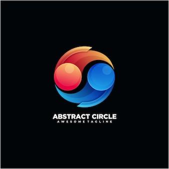 抽象的な円のカラフルなロゴのデザインの無限大