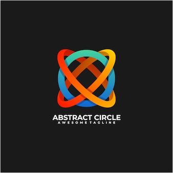 Abstract circle colorful logo design template