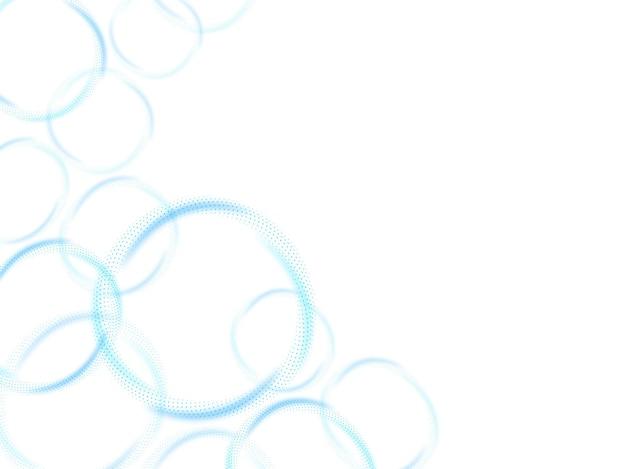 青と白の色で抽象的な円曲線の背景。